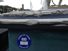 Sabre transom Damage